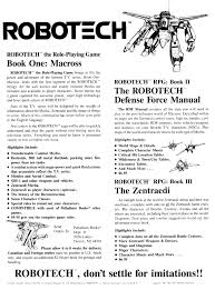 may 1987 robotech rpg advertisement