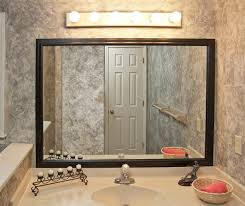 Wood Framed Bathroom Vanity Mirrors by Bathroom Cabinets Contemporary Bathroom Mirrors Wood Framed