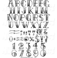 royalty free stock number designs of letters