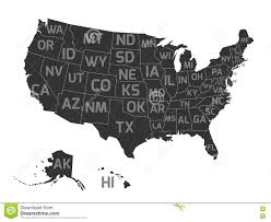 Map Of The States Of Usa by Map The State Of Hawaii In Gray On A White Background Stock
