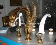 Swan Faucet Gold Pvd Gold Finish 3 Piece Roman Tub Or Sink Swan Faucet Bathroom