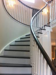 traditional staircases curved cut string staircase