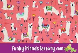 llama wrapping paper see me sew my llama alpaca pattern funky friends factory