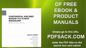 continental airlines boeing 777 flight manualpdf video dailymotion