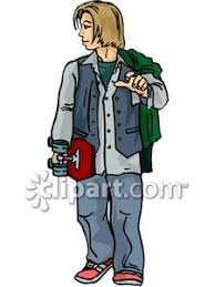 long haired skater boys haired skater boy royalty free clipart picture