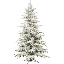 flocked christmas tree mountain pine 7 5 green artificial christmas tree with 550 smart