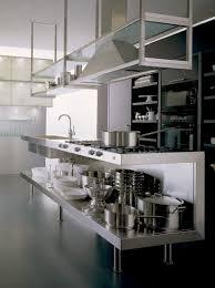 restaurant kitchen lighting groovy modern stainless steel kitchen everything exposed café