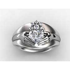 claddagh engagement ring custom diamond engagement ring jewelry setting without center