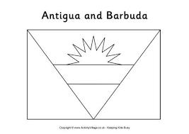 antigua and barbuda flag printables