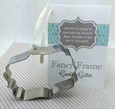 wedding cookie cutters frame cookie cutter fancy plaque flourish cookie cutter w recipe