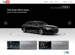 youtube lexus commercial 2014 audi launches new custom interactive youtube channel