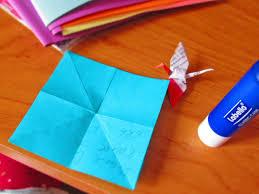 suspension origami diy tuto la guirlande de grues en origami diy chadik