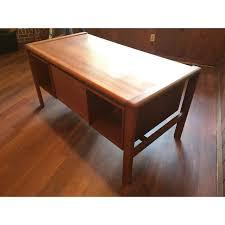 Mid Century Desk Mid Century Modern H P Hansen Teak Desk Chairish