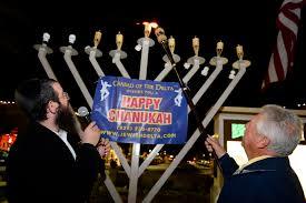 outdoor hanukkah menorah around alamo menorah lighting set for monday