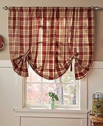Country Plaid Valances Country Curtain Kitchen Window Amazon Com