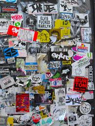 art skool damage christian montone stickered on bleecker 01 april 2011