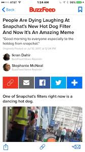 Hot Memes - snapchat hot dog the best memes from snapchat s new feature