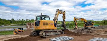 contractor preps site for large auto mall topcon positioning