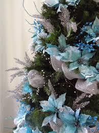 turquoise christmas trees christmas lights decoration