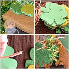 garland crafts st patrick u0027s burlap dollar store crafting st