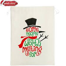 aliexpress com buy christmas gift bags sack white funny bag