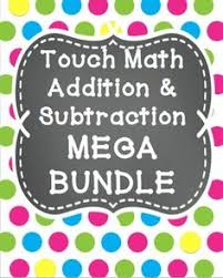 this bundle is made up of my touch math addition practice