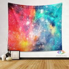 galaxy tapestry fantasy space wall tapestry multicolor nebula