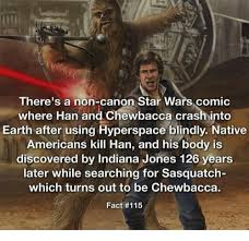 Chewbacca Memes - there s a non canon star wars comic where han and chewbacca crash