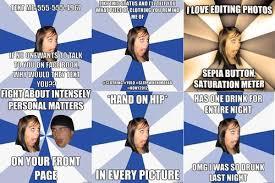 Facebook Girl Meme - k chizzle s crib annoying facebook girl meme