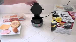 Toaster With Egg Maker Hamilton Beach Breakfast Sandwich Maker Review Youtube