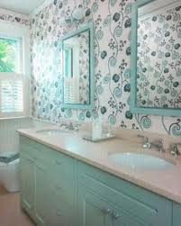 Wallpapered Bathrooms Ideas Loving This Lobster Wallpaper Home Sweet Home Pinterest