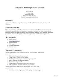 exles of marketing resumes entry level resumes resume summary templates sle vesochieuxo