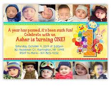 babyfirsttv first birthday invitation u003cbr u003ebaby u0027s year in photos