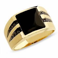 black gemstone rings images Men 39 s onyx ring in 10k gold with enhanced black diamonds jpg