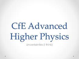cfe advanced higher physics