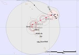 Vanuatu Map Off Season Very Dangerous Tropical Cyclone