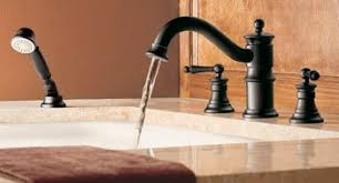Moen Waterhill Kitchen Faucet Moen Ts213orb Waterhill Two Handle High Arc Tub