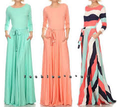 rayon jersey maxi dress side pocket full sweep long skirt wrap tie