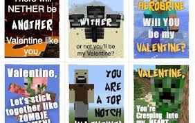 minecraft valentines minecraft valentines six designs that are free to and print