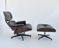 1st gen ray and charles eames 670 671 leather lounge chair with