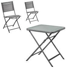 chaises pliables salon de jardin modena mexico 1 table 2 chaises pliables jysk