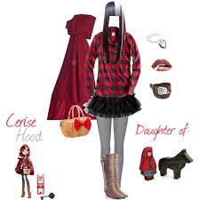 Halloween Costume Basic Cerise Hood Daughter Red