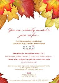 pre thanksgiving cocktail mixer and afterparty in san jose at
