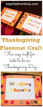 thanksgiving placemat for to make imprints from tricia