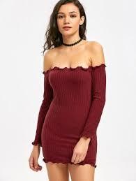 maroon sweater dress shoulder sweater dress fashion shop trendy style zaful