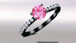 pink and black engagement rings engagement rings with colored stones pink diamond engagement rings