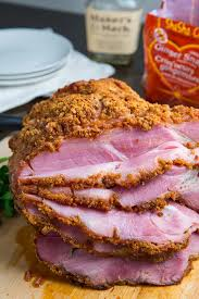 bourbon gingersnap crusted ham on closet cooking