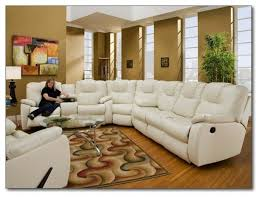 Sectional Reclining Sofas Leather Brilliant White Leather Recliner Sofa Set Shop Sloan Electric