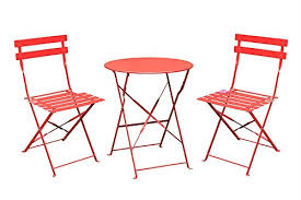 Folding Bistro Table And Chairs Set 3 Piece Outdoor Folding Bistro Set Of Table And 2 Chairs Dining