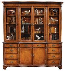 jonathan charles walnut glazed china cabinet serpentine architrave